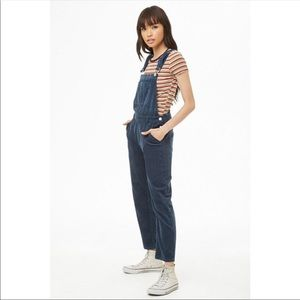 Forever 21 Navy Corduroy Overalls